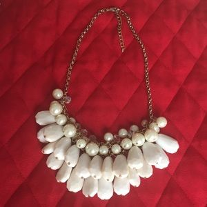 Cream and Pearl Statement Necklace